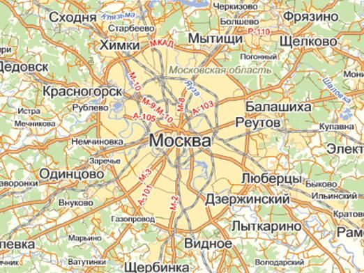 Де знаходиться Москва?
