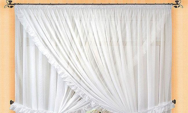 Як зробити білими вуалево штори?