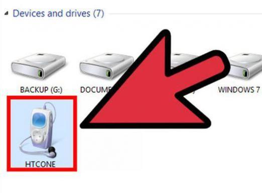 Як підключити htc до комп`ютера?