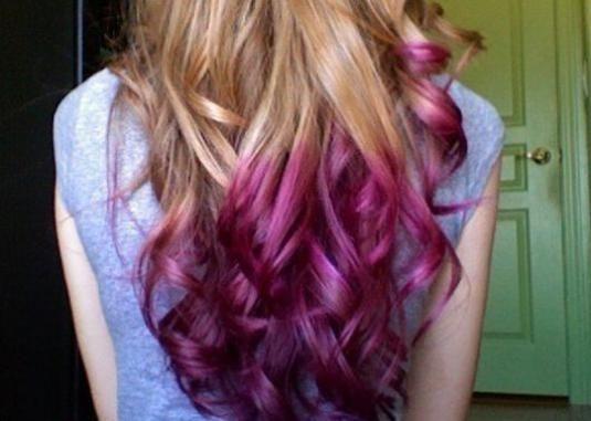 Як пофарбувати кінчики волосся?