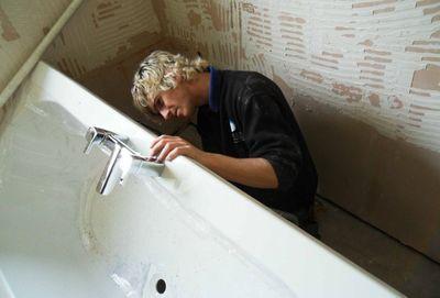 зняти ванну