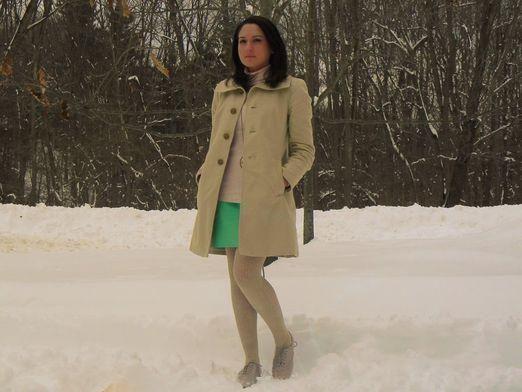 З чим носити спідницю взимку?
