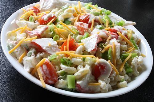 салат з крабами консервованими