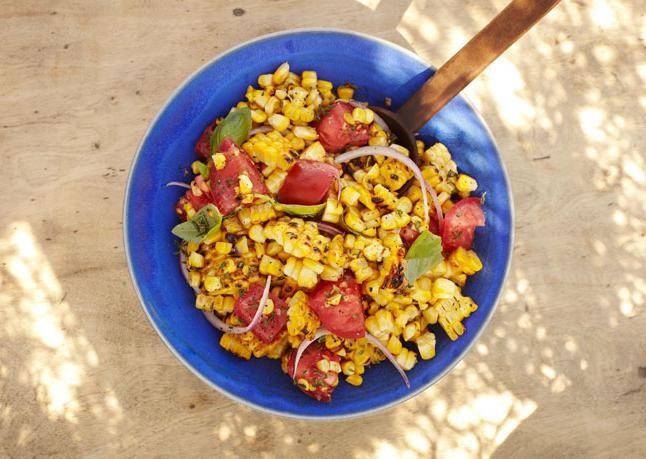 салат кукурудза шинка огірок